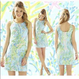Lily Pulitzer Cathy shift Dress sleeveless blue 2